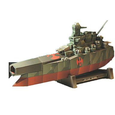 Quebra-Cabeças 3D Quebra-Cabeça Artesanato de Papel Brinquedos de Montar Quadrada Barco de Guerra Navio 3D Simulação Faça Você Mesmo