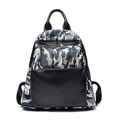 Naisten Kassit PU Canvas Backpack varten Matkailu Kaikki vuodenajat Uima-allas Apila