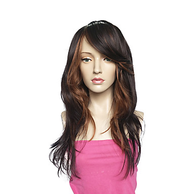 Synthetic Hair Wigs Curly African American Wig Capless Natural Wigs Long Brown