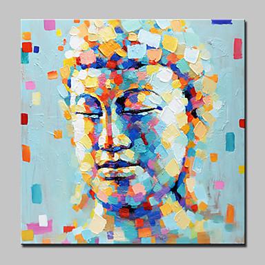 Pintura a Óleo Pintados à mão - Pessoas Moderno / Contemporâneo Tela de pintura