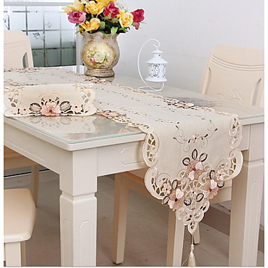 Classic Cotton Blend Table cloths Printing Table Decorations 1 pcs