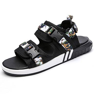 Men's Shoes PU Spring / Summer Comfort Sandals Black / Green