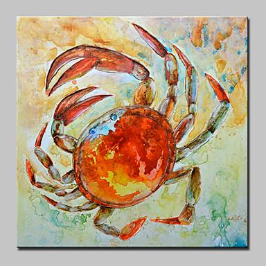 Pintados à mão Animais Quadrada, Abstracto Modern Tela de pintura Pintura a Óleo Decoração para casa 1 Painel