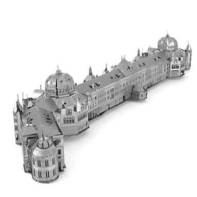 Carros de Brinquedo Quebra-Cabeças 3D Quebra-Cabeça Quebra-Cabeças de Metal Redonda Tanque Castelo Construções Famosas Instrumentos