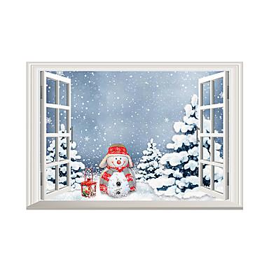 Animais Natal Paisagem Adesivos de Parede Autocolantes de Aviões para Parede Autocolantes de Parede Decorativos MaterialDecoração para