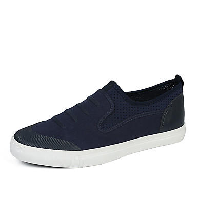 Men's Shoes Canvas Spring Fall Comfort Light Soles Sneakers For Casual Outdoor Office & Career Party & Evening Black Dark Blue Gray