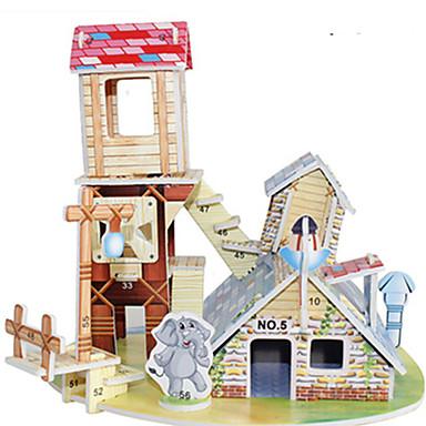 3D Puzzle Jigsaw Puzzle Model Building Kit Famous buildings House DIY Hard Card Paper Classic Anime Cartoon Kid's Unisex Gift