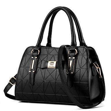 hesapli Toteler-Kadın's Çantalar PU Omuz çantası / Üstten Saplı Çanta için Dış mekan / Ofis ve Kariyer İlkbahar yaz Mor / Yeşil / Derin Mavi