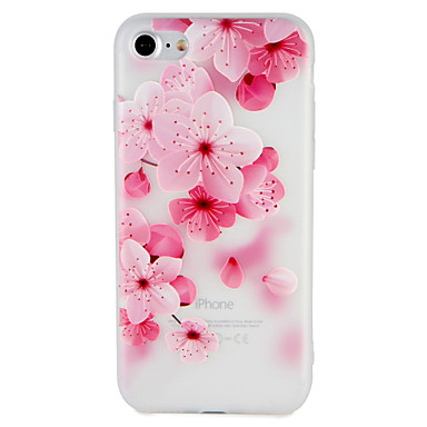 Case For Apple iPhone 7 Plus iPhone 7 Pattern Embossed Back Cover Flower Soft TPU for iPhone 7 Plus iPhone 7 iPhone 6s Plus iPhone 6s
