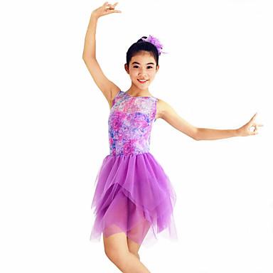 Ballet Jurken Dames Kinderen Prestatie elastan Polyester Gedrapeerd Geplooide 2-delig Mouwloos Natuurlijk Kleding Hoofddeksels
