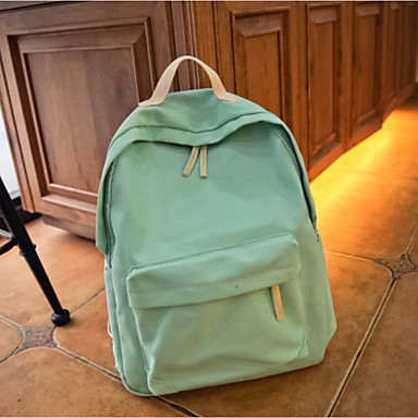 Women Bags All Seasons Canvas Backpack with for Casual Blue Green Black Red Beige