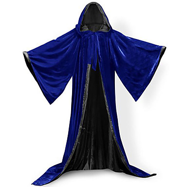 Wizard Coat Cosplay Costume Cloak Witch Broom Party Costume Masquerade Halloween Props Unisex Christmas Halloween Carnival Children's Day