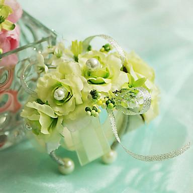 Esküvői virágok Virágcsokrok csuklóra Esküvő Sifon Selyem Pamut Szatén 3,94