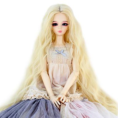 Cabelo Sintético perucas Crespo Cacheado boneca peruca Loiro