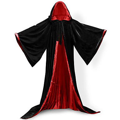Wizard Coat Cosplay Costume Cloak Witch Broom Halloween Props Unisex Christmas Halloween Carnival Festival / Holiday Outfits Not Specified