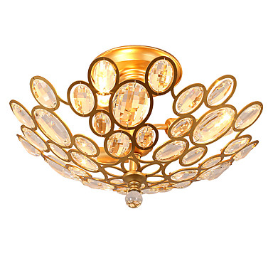 LightMyself™ 3-Light Mennyezeti lámpa Háttérfény - Kristály, 220 V / 110 V Az izzó nem tartozék / 10-15 ㎡ / E12 / E14