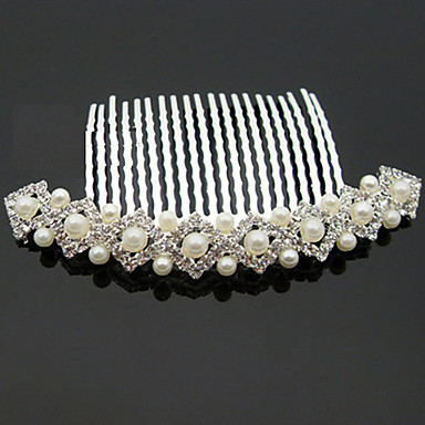 Imitation Pearl / Rhinestone / Alloy Hair Combs with 1 Wedding / Special Occasion / Halloween Headpiece