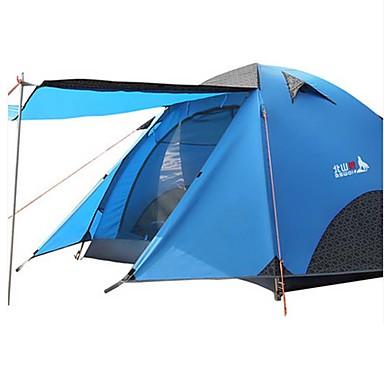 BSwolf 3-4 personer Telt Dobbelt camping Tent Ett Rom Brette Telt Vanntett Regn-sikker Støvtett Sammenleggbar til Camping & Fjellvandring
