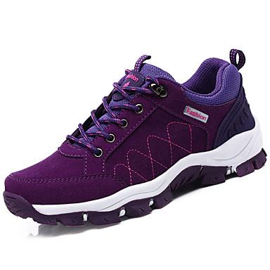 Mulheres Sapatos Couro Ecológico Primavera Outono Solados com Luzes Conforto Tênis Aventura Sem Salto Ponta Redonda Cadarço para Atlético