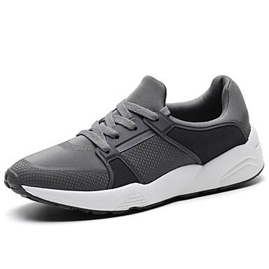 Miesten kengät Kangas Kevät Syksy Comfort Lenkkitossut varten Kausaliteetti Musta Tumman harmaa
