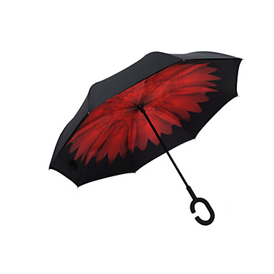 Paraply med langt håndtak Dame
