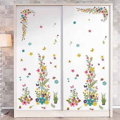 Fashion Florals Floral/Botanical Wall Stickers Plane Wall Stickers Decorative Wall Stickers, Vinyl Home Decoration Wall Decal Wall