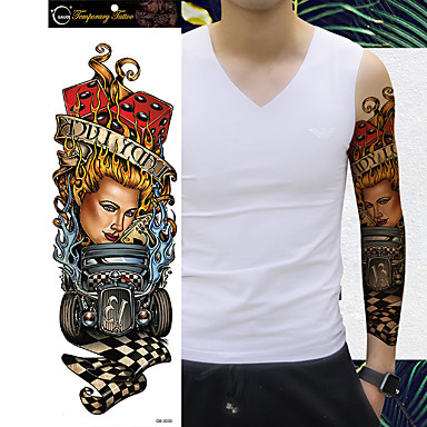 1Pc Waterproof Temporary Tattoos Paste Leg Full Arm Paper Fake Tattoo Stickers