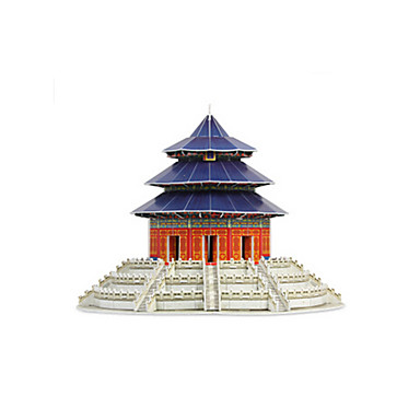 3D Puzzle Jigsaw Puzzle Famous buildings Chinese Architecture Temple of Heaven Furnishing Articles Wooden Chinese Style Unisex Gift