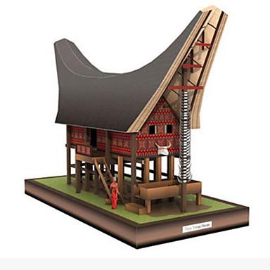Quebra-Cabeças 3D Maquetes de Papel Brinquedos de Montar Artesanato de Papel Quadrada Casa 3D Faça Você Mesmo Cartão de Papel Duro