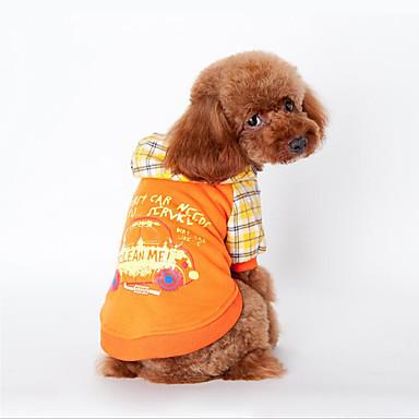 Hund Genser Hundeklær Bokstav & Nummer Oransje Blå Bomull Kostume For kjæledyr Herre Dame Fritid / hverdag