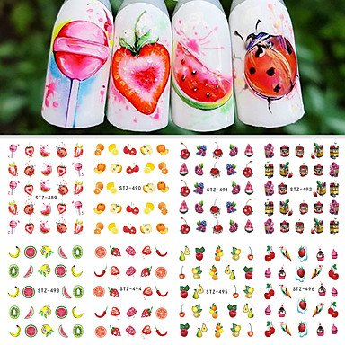 12 pcs Nail DIY Tools Full Nail Stickers Water Transfer Decals nail art Manicure Pedicure Fashion Daily