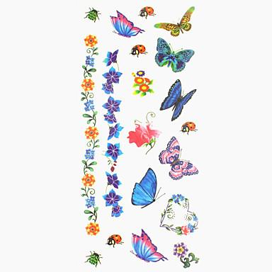 1 pcs Tattoo Stickers Temporary Tattoos Totem Series / Animal Series Waterproof Body Arts Hand / Arm / Wrist