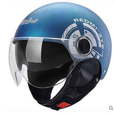 Halvhjelm Slimfit Kompakt Pustende Beste kvalitet Halv Skall Sport Motorsykkel Hjelmer