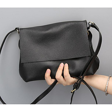 Women Bags All Seasons Cowhide Shoulder Bag for Casual Outdoor Black