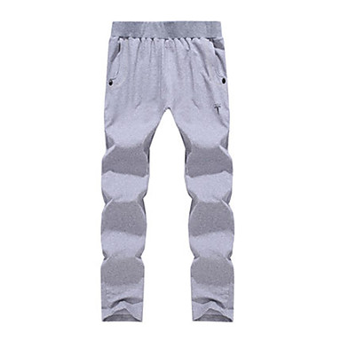 Men's Running Pants Casual/Daily Pants / Trousers for Running/Jogging Exercise & Fitness Polyester Slim Black Dark Blue Gray Dark Grey L