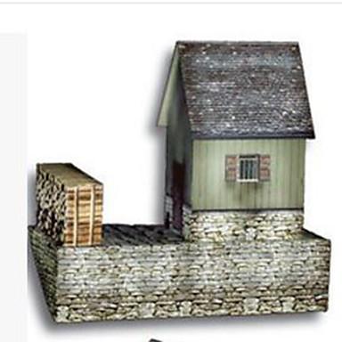 3D Puzzles Paper Craft Model Building Kit Square Famous buildings House Architecture 3D DIY Hard Card Paper Unisex Gift