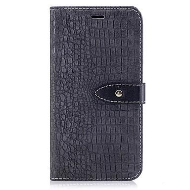 Capinha Para Apple iPhone X / iPhone 8 Plus Carteira / Porta-Cartão / Com Suporte Capa Proteção Completa Sólido Rígida PU Leather para iPhone X / iPhone 8 Plus / iPhone 8