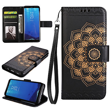 Capinha Para Samsung Galaxy S8 Plus / S8 Carteira / Porta-Cartão / Com Suporte Capa Proteção Completa Mandala Rígida PU Leather para S8 Plus / S8 / S7 edge