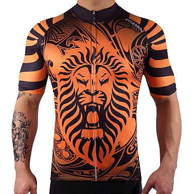 Cycling Jersey Short Sleeves Bike Top Bike Wear Quick Dry Reduces Chafing Stretchy Cycling / Bike
