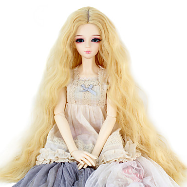 Perucas sintéticas Kinky Curly Cabelo Sintético Peruca Mulheres / boneca peruca