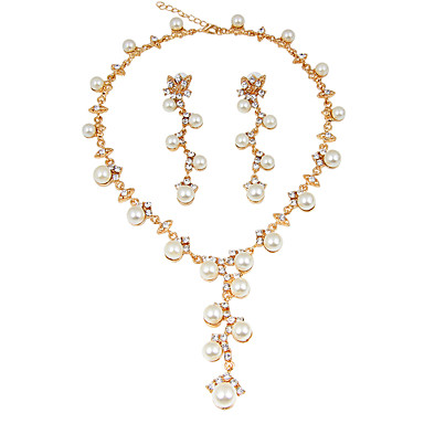 Women's Jewelry Set - Imitation Pearl Classic, Fashion, Euramerican Include Bridal Jewelry Sets / Pearl Necklace Gold For Christmas / Christmas Gifts / Wedding / Party / Special Occasion / Birthday