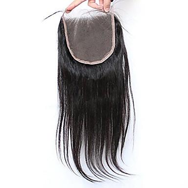 povoljno Perike i ekstenzije-Svilena ravna 5x5inch zatvaranje čipke zatvaranje kose s dlakama