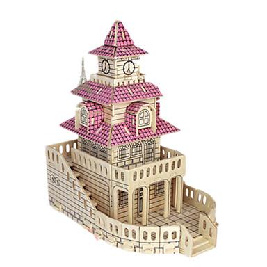 3D-puslespill Puslespill Tremodeller Modellsett Kjent bygning Møbel Hus Arkitektur 3D simulering GDS Tre Klassisk Barne Unisex Gave