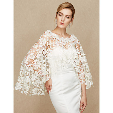 Lace Wedding / Party / Evening Women's Wrap With Lace Capes