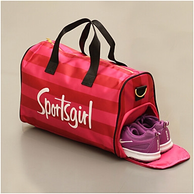 Unisex Bags All Seasons PU Travel Bag for Casual Sports Outdoor Black Blushing Pink