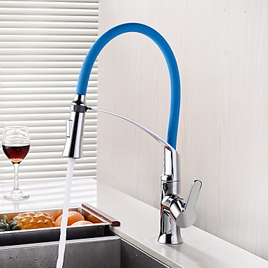 Torneira de Cozinha - Moderno / Contemporâneo Cromado Haste Móvel - Horizontal e Vertical Montagem em Plataforma