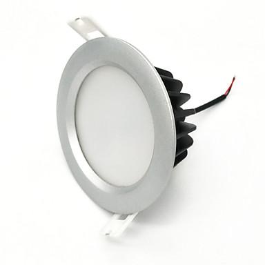 Zdm 1 pc 7 w ip65 à prova d 'água 600-650lm prata rodada led downlight luz de teto semi ao ar livre frio branco / branco quente / naturalmente branco ac85-265v ac12v