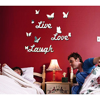 Romance Leisure Wall Stickers Mirror Wall Stickers Decorative Wall Stickers,Acrylic Material Home Decoration Wall Decal