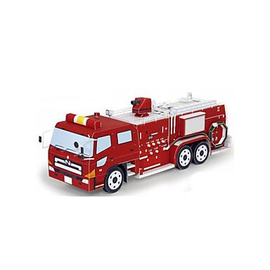 Carros de Brinquedo Quebra-Cabeças 3D Maquetes de Papel Cauda Charrete Caminhões de Bombeiros Faça Você Mesmo Clássico todas as Idades
