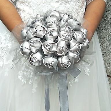 Bouquets de Noiva Buquês Casamento Tule Cetim 9.84